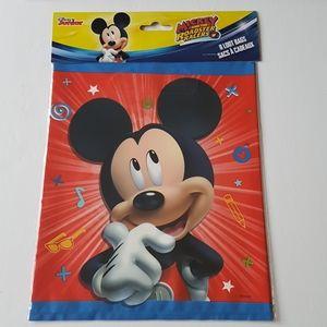 "8 Disney Mickey Loot Bags 7.25""x9"" in"